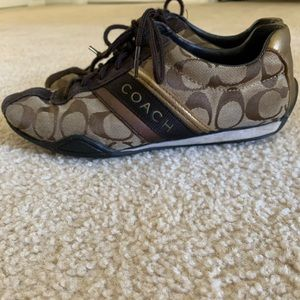 Coach Sneakers Jayme Signature Brown Gold